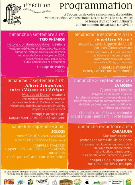 Festival des chapelles 2017